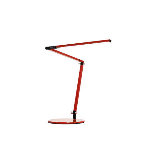Z-Bar Red LED Desk Lamp