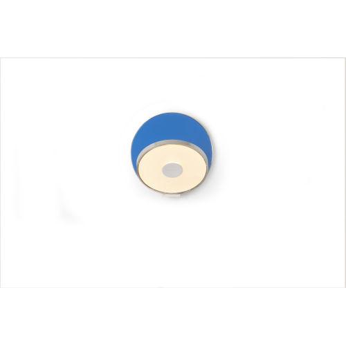 Gravy Chrome Matte Blue LED Plug-In Wall Sconce