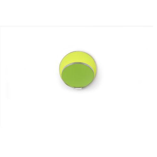 Gravy Chrome Matte Green LED Hardwire Wall Sconce