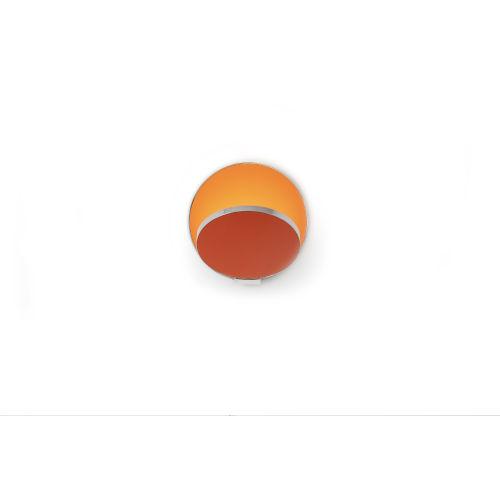 Gravy Chrome Matte Orange LED Hardwire Wall Sconce