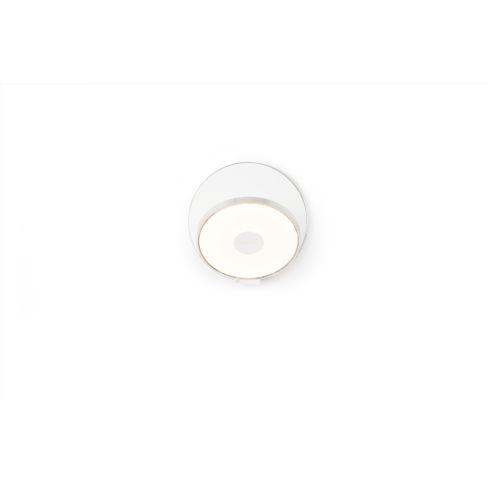Gravy Chrome Matte White LED Plug-In Wall Sconce