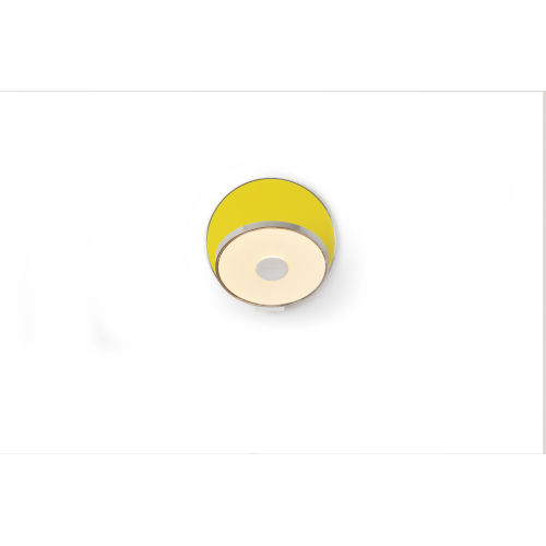 Gravy Chrome Matte Yellow LED Plug-In Wall Sconce