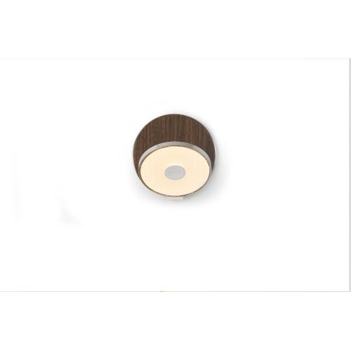 Gravy Chrome Oiled Walnut LED Hardwire Wall Sconce