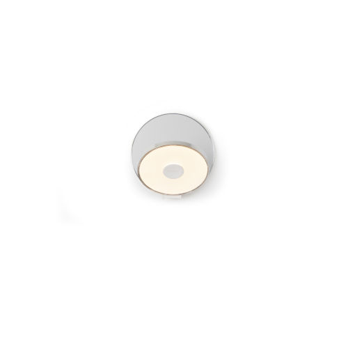 Gravy Chrome Silver LED Plug-In Wall Sconce