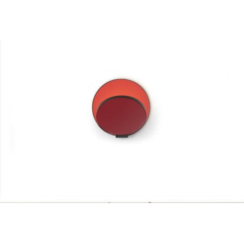 Gravy Metallic Black Matte Red LED Hardwire Wall Sconce