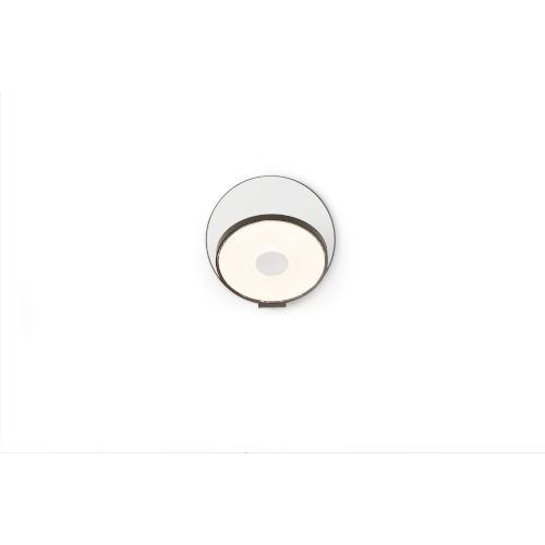 Gravy Metallic Black Matte White LED Plug-In Wall Sconce
