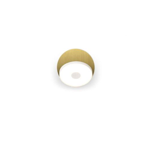 Gravy Matte White Brass LED Hardwired Wall Sconce