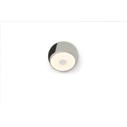Gravy Silver Chrome LED Plug-In Wall Sconce