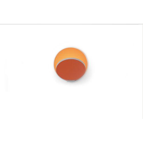 Gravy Silver Matte Orange LED Plug-In Wall Sconce
