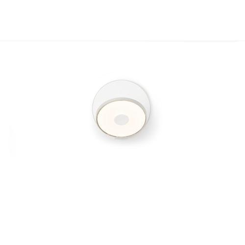 Gravy Silver Matte White LED Hardwire Wall Sconce