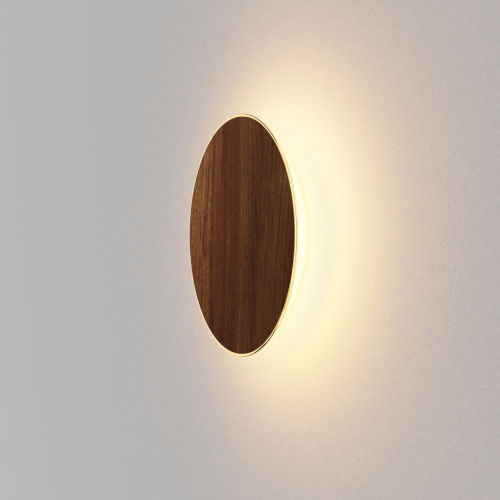 Ramen Oiled Walnut 12-Inch LED Outdoor Wall Sconce