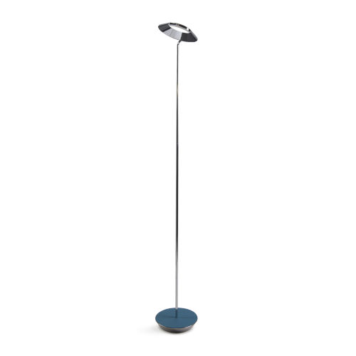 Royyo Chrome and Azure LED Floor Lamp