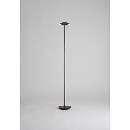 Royyo Matte White LED Floor Lamp with Honeydew Base
