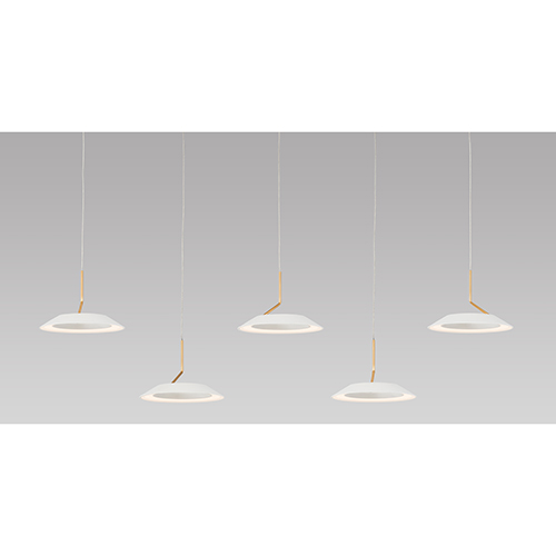Koncept Royyo Matte Black Three-Light LED Linear Pendant