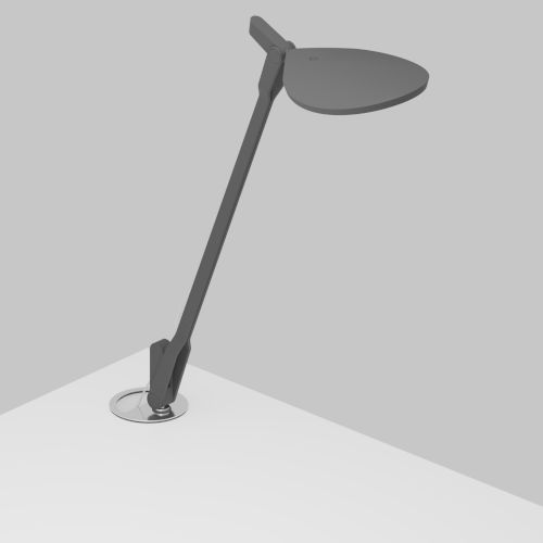 Splitty Matte Grey LED Desk Lamp with Grommet Mount