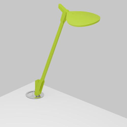 Splitty Matte Leaf Green LED Desk Lamp with Grommet Mount