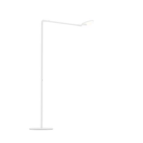 Splitty Matte White LED Floor Lamp
