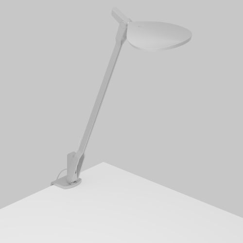Splitty Silver LED Pro Desk Lamp with One-Piece Desk Clamp