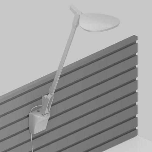 Splitty Silver LED Pro Desk Lamp with Slatwall Mount