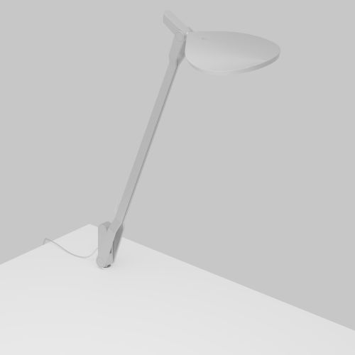 Splitty Silver LED Desk Lamp with Through Table Mount
