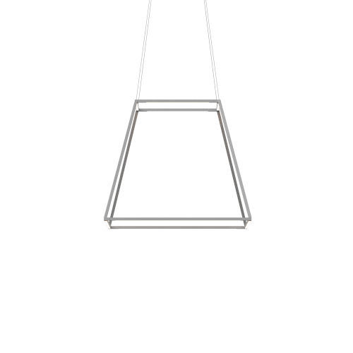 Z-Bar Silver Soft Warm 26-Inch LED Square Pendant