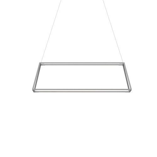 Z-Bar Silver 40-Inch Soft Warm LED Rectangle Pendant