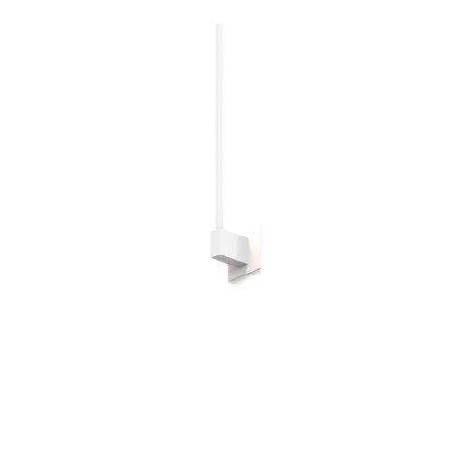 Z-Bar Matte White Soft Warm LED End Mount Wall Sconce