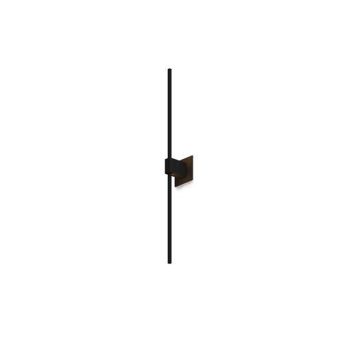 Z-Bar Matte Black Soft Warm LED Wall Sconce