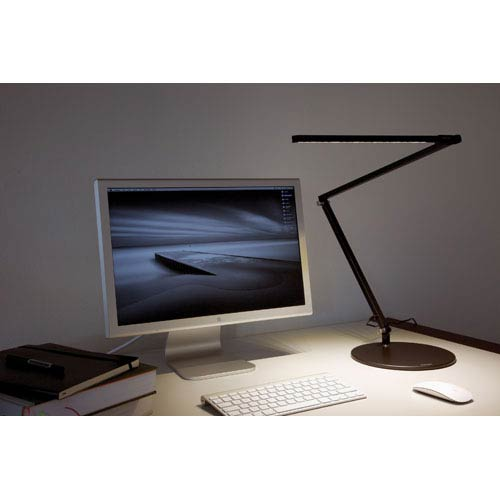 Z-Bar Black LED Desk Lamp with Base - Warm Light