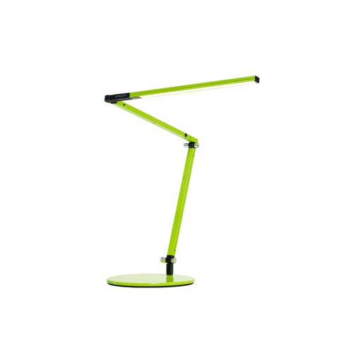 Green LED Desk Lamp with Base -Warm Light