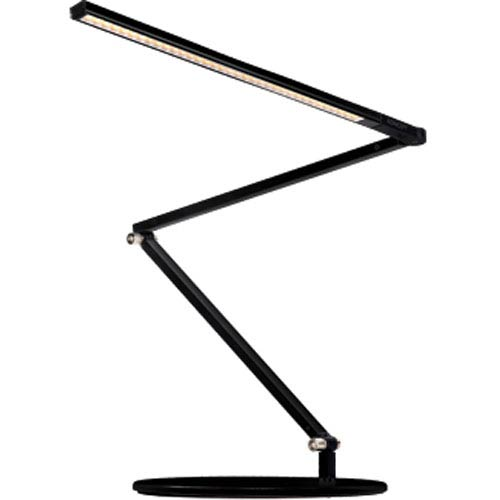 Z-Bar slim Black LED Desk Lamp with Base - Warm Light