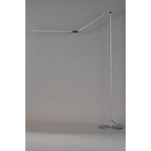 Z-Bar Silver LED Floor Lamp - Cool Light