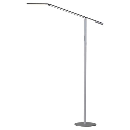 Equo Silver LED Floor Lamp - Cool Light