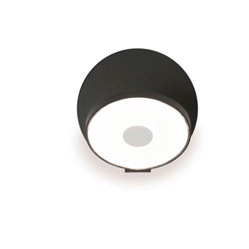 Gravy Metallic Black Plug-In LED Wall Sconce