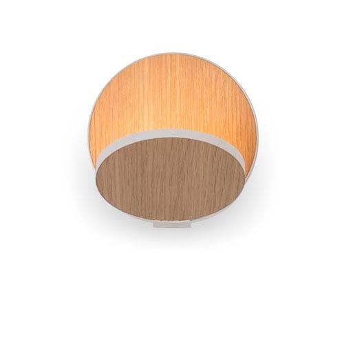 Gravy White Oak Plug-In LED Wall Sconce