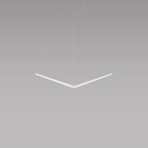 Z-Bar Pendant Matte White 34-Inch LED Bird Pendant