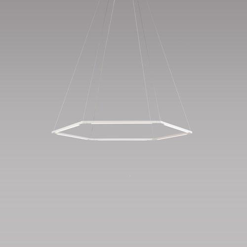 Z-Bar Pendant Matte White 35-Inch LED Honeycomb Pendant