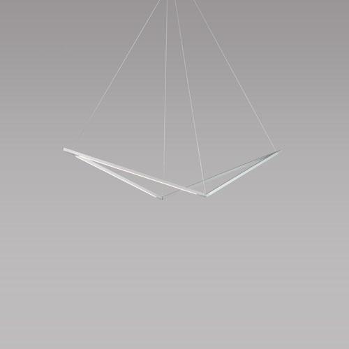 Z-Bar Pendant Silver 49-Inch LED Damp Rated Bird Pendant