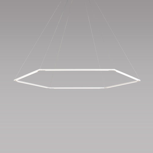 Z-Bar Pendant Matte White 52-Inch LED Damp Rated Honeycomb Pendant