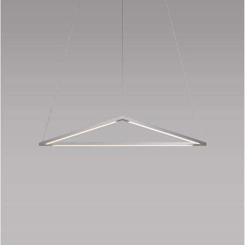 Z-Bar Pendant Silver 26-Inch LED Damp Rated Triangle Pendant