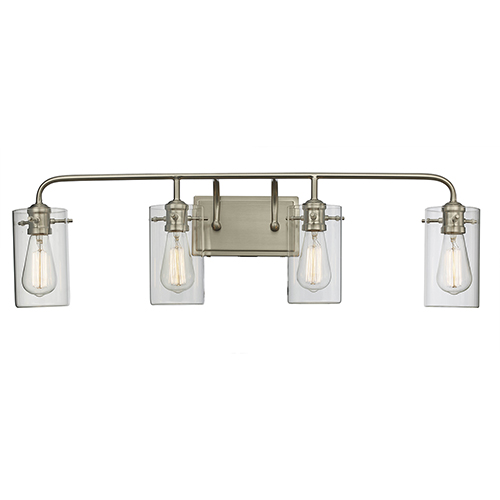 Townsend Brushed Nickel Four-Light Wall Sconce