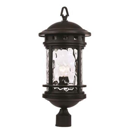 Boardwalk Black 11-Inch One-Light Post Mount Lantern