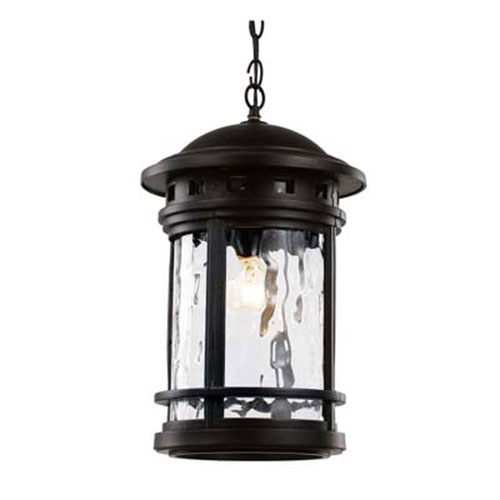 Boardwalk Black 11-Inch One-Light Hanging Lantern