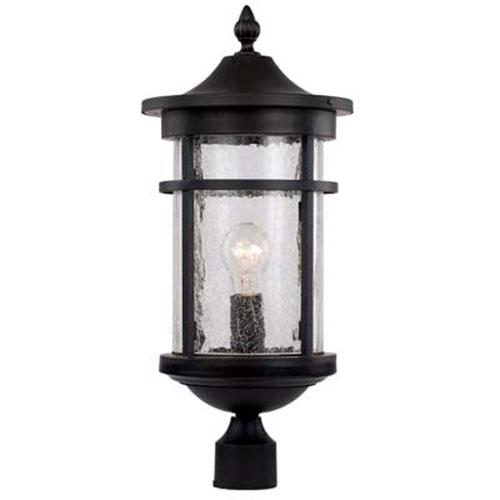 Avalon Black 11-Inch One-Light Post Mount Lantern
