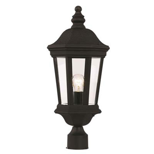 Westfield Black Nine-Inch One-Light Post Mount Lantern
