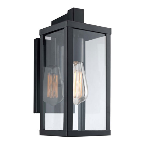 Oxford Black Five-Inch One-Light Wall Lantern