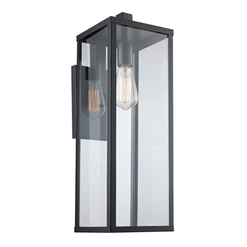 Oxford Black Seven-Inch One-Light Wall Lantern