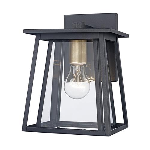 Geode Black One-Light Wall Lantern