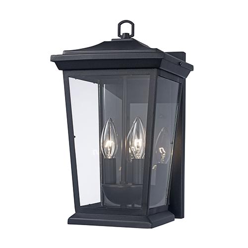 Turlock Black Two-Light Wall Lantern