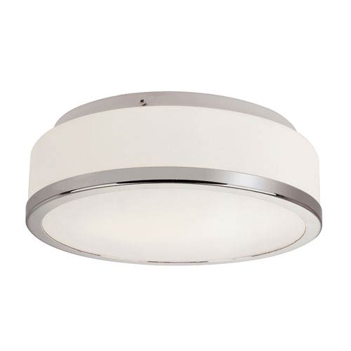 Trans Globe Lighting Round Opal 13-Inch Flush Mount with White Frosted Glass